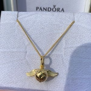 Pandora Shine Harry Potter Golden Snitch Necklace